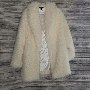 Torrid White Faux Shearling Teddy Soft Jacket